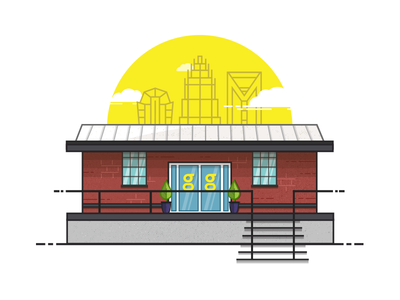 Hygge hygge city charlotte texture building line illustration