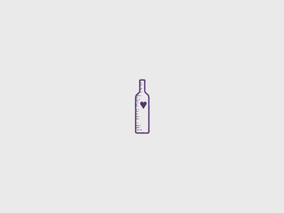 In small barrels, there's good wine heart icon wine bottle