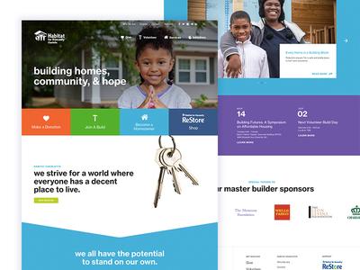 Habitat for Humanity Charlotte build charlotte habitat for humanity ui web design nonprofit website