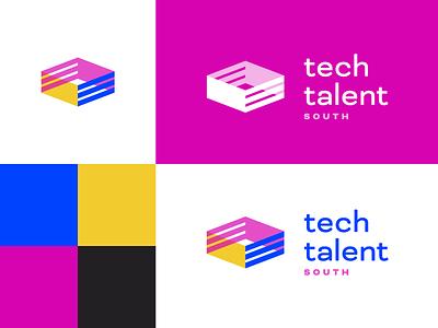 Tech Talent Colors tech bold color palette black yellow blue magenta