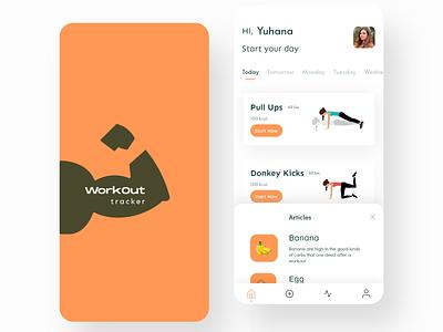 041 Daily UI - Workout Tracker inspiration branding ux design ui app arulmani workout tracker daily ui