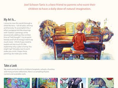 Local Artist Website - Joel Schoon Tanis - Art Section art painting website