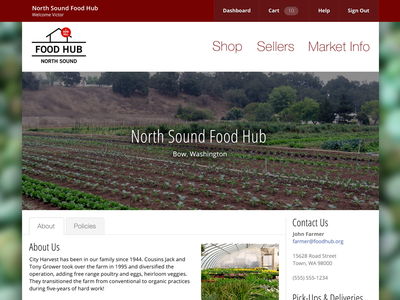 Food Hub Software Design webapp design ui