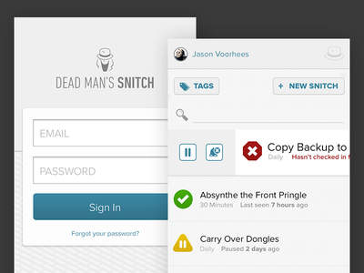 Mobile app login and list UI mobile ios android webapp user interface ui user experience ux