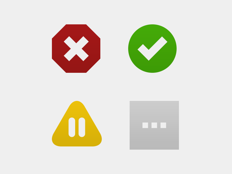 Status Icons for Dead Man's Snitch by Victor Sirotek for Collective