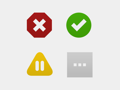 Status Icons for Dead Man's Snitch icons ui design interface