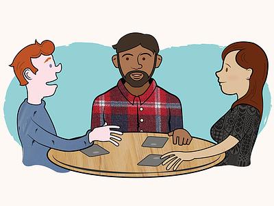 Conversation Illustration illustration cartoon ios game