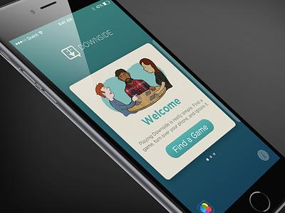 Downside Sneak Peak ios illustration game app design