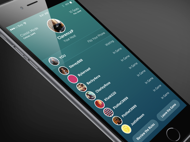Downside game screen ui ux app ios design interface game