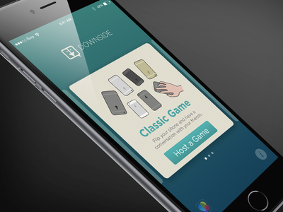 Downside Classic Game Screen game interface illustration design ios app ux ui