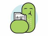 Inchworm Illustration
