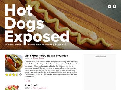 Hot Dog Blog silly blog design website