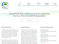 Simple brain learning site homepage layout