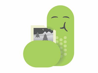 flattened inchworm logo illustration software product