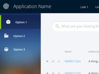 App UI - Sidebar Navigation