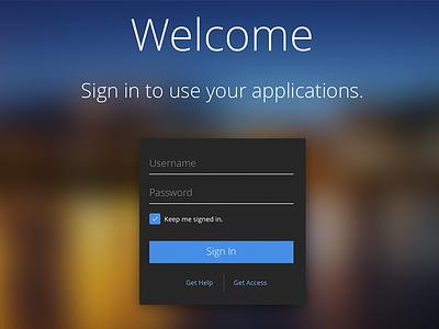 App UI - Sign In