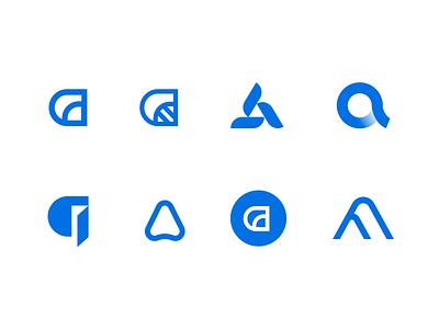 a logo mark logo branding logo marks logos letter a a