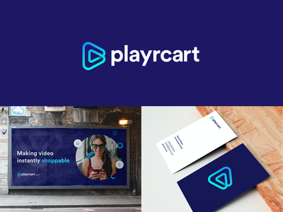 Playrcart video player ecommerce brand identity identity branding logo brand