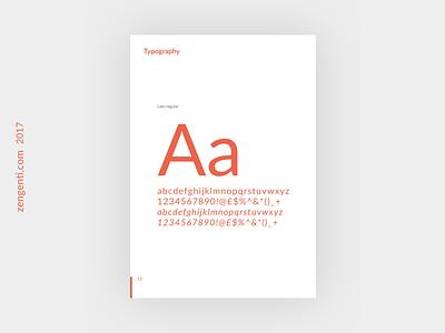 Lato Regular branding guide branding brand guidelines brand paper type typography lato