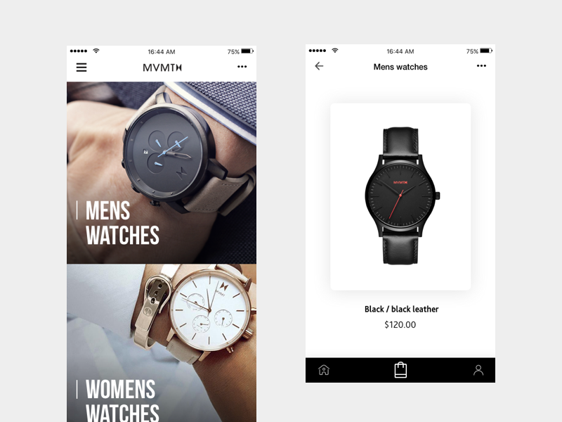 Watch App watch shop app ios android ecommerce fashion watches product mvmt watch