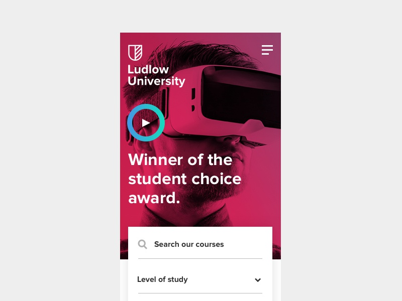 Mobile gradient ux app mobile first college education university mobile