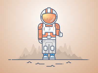 Space Dude discovery astronaut cosmonaut planet mars space spaceman martian the martian