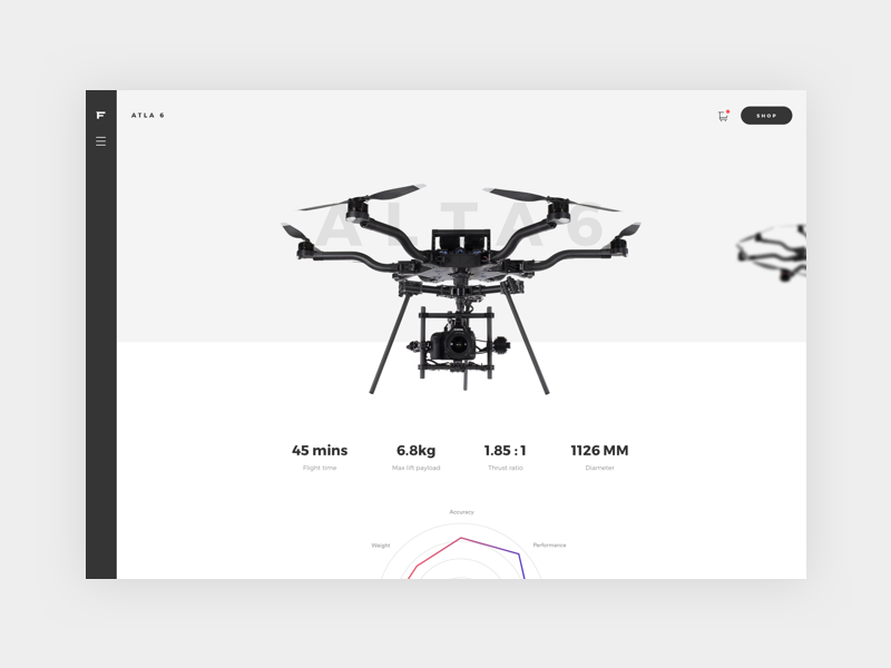 Alta 6 blackandwhite camera sport fashion minimal clean product ecommerce drone