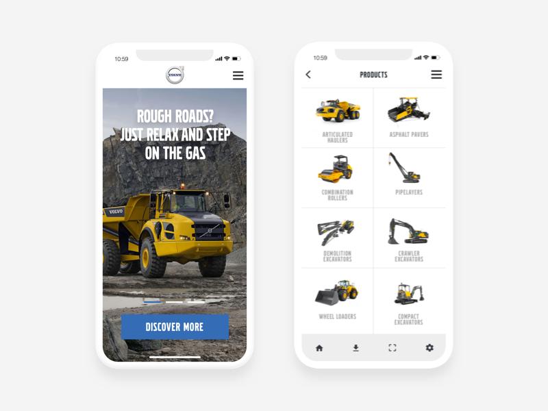 New Volvo Construction Vehicle App iphone 10 iphone x construction ecommerce product app volvo