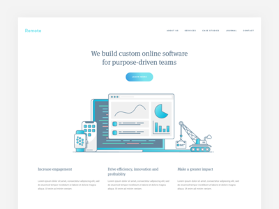 Remote homepage design