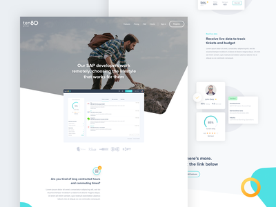 Ten80 brand uxdesign ux ui landingpage interface product website