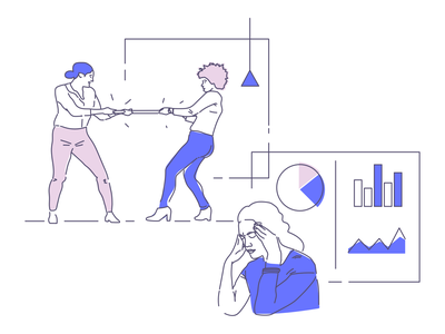 Stress illustration series startups startup work office illustration