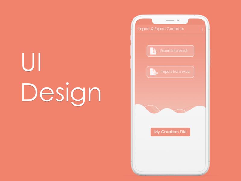 UI Design appui photoshop application app design app ui design