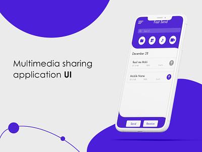Sharing App ui design ui design application app design app ui design