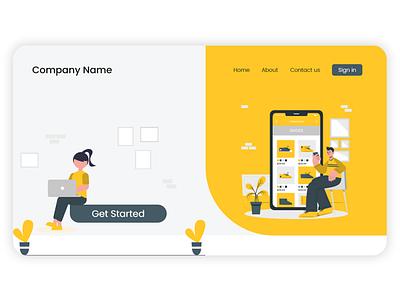 Landing Page design illustration landscape app design app web weblanding webdesign landing design landing page ui ux design