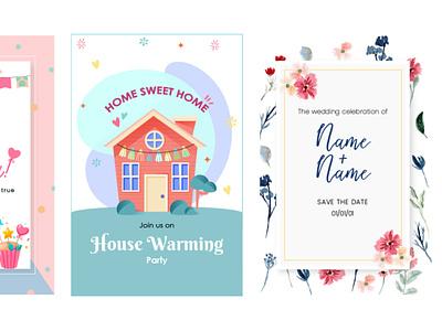 Greeting card illustration flyer cards card greeting cards greetingcard greeting card greeting illustration design