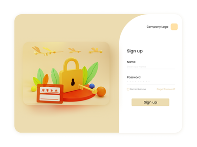 Login page sign in login design login screen landing landing page design landing page signup login loginpage minimal ux web 3d 3d art illustration ui design