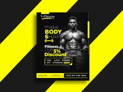 i-Fitness GYM Flyer Design