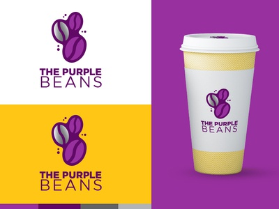 The Purple Beans Logo Design
