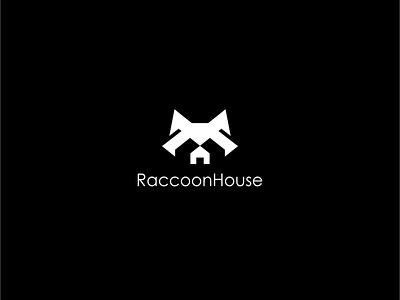 Raccoon House minimal animal vector abstract icon creative simple logo houses home house logo house raccoon