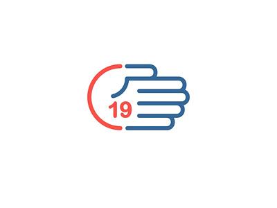 Covid 19 medical medicine hands healthcare design simple creative logo covid19 covid 19 corona coronavirus