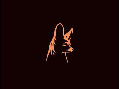 Fennec fox design logotype animal simple creative logo fox fennec