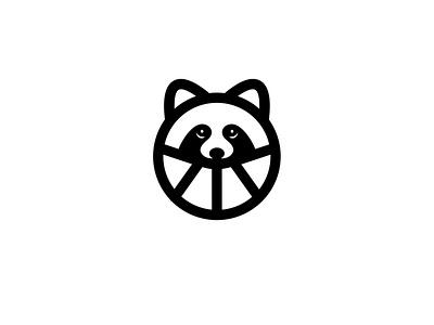 Raccoon simple icon logotype animal lines minimal creative design logo raccoon
