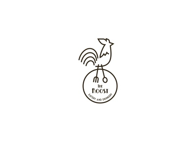 The Roost restaurant food logotype branding abstract simple creative logo rooster logo rooster