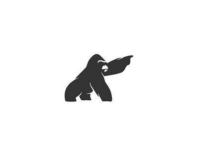 Gorilla logo logotype animal minimal design silverback ape harambe gorilla gorilla logo