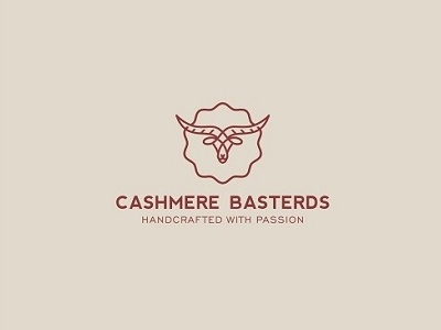 Cashmere Basterds animal fashion cashmere goat red minimal abstratct lines simple creative design logo