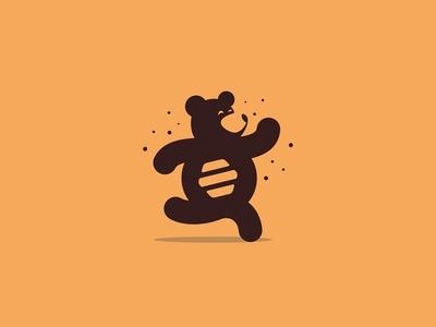 Honey Bear animal logotype logo creative bear logo food honeybee honey bear