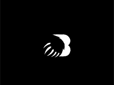 Bear abstract logotype logo mark symbol icon lettermark letter b creative animal claw grizzly bear grizzly bear