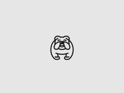 Bulldog puppy breed simple logo abstract logotype icon animal minimal creative bulldogs dog logo dog bulldog
