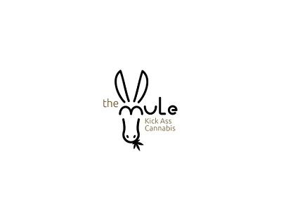 The Mule creative cannabis logo branding design abstract logotype lines minimal simple donkey mule