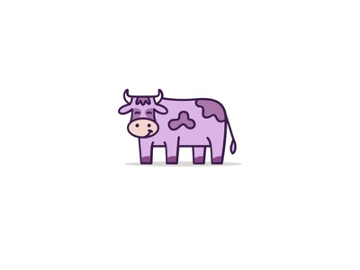 Happy Cow happy design logotype animal simple creative logo cow cattle
